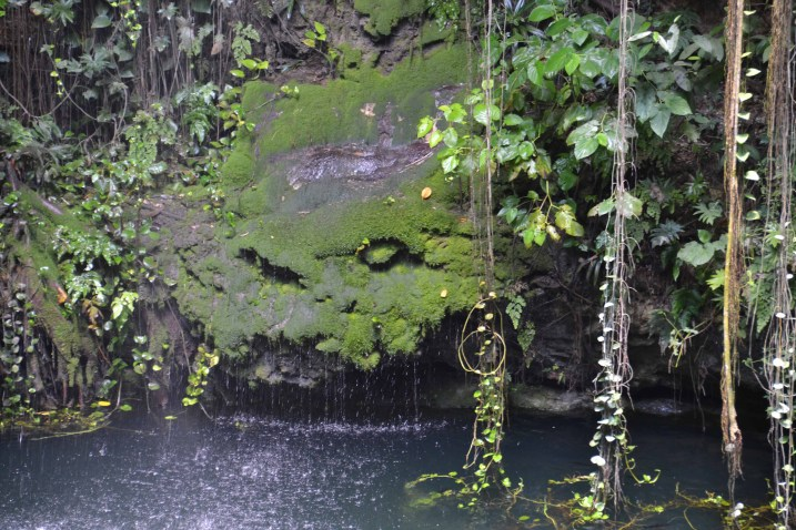 Ik Kil Cenote - Rock and Waterfall